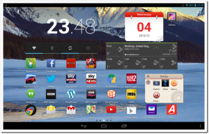 Lenovo IdeaTab S6000 Review homescreen