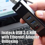 Inateck 3 Ports USB 3.0 HUB with Gigabit Ethernet Network Adapter Unboxing