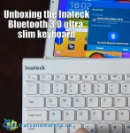 Unboxing the Inateck Bluetooth 3.0 ultra slim keyboard