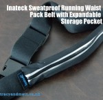 Inateck Sweatproof Running Waist Pack Belt with Expandable Storage Pocket
