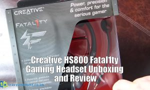 Creative HS800 Fatal1ty Gaming Headset unboxing and review